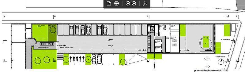 Commissariat de police ch telet architecte mathen r alisation atelier d 39 architecture mathen for Plan b design fabrication inc